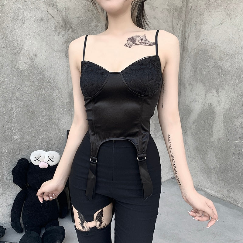 Got U Hooked Corset Top - ALTERBABE Shop Grunge, E-girl, Gothic, Goth, Dark Academia, Soft Girl, Nu-Goth, Aesthetic, Alternative Fashion, Clothing, Accessories, Footwear