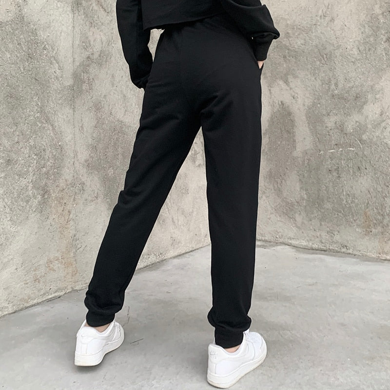 Outta Hell Joggers Pants - ALTERBABE Shop Grunge, E-girl, Gothic, Goth, Dark Academia, Soft Girl, Nu-Goth, Aesthetic, Alternative Fashion, Clothing, Accessories, Footwear