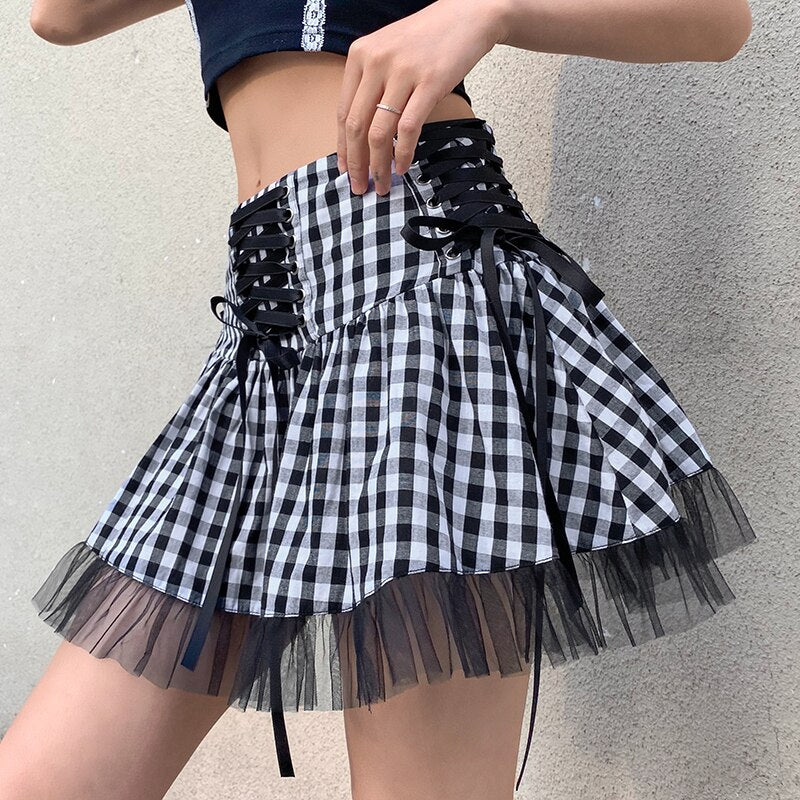 School Dropout Plaid Skirt
