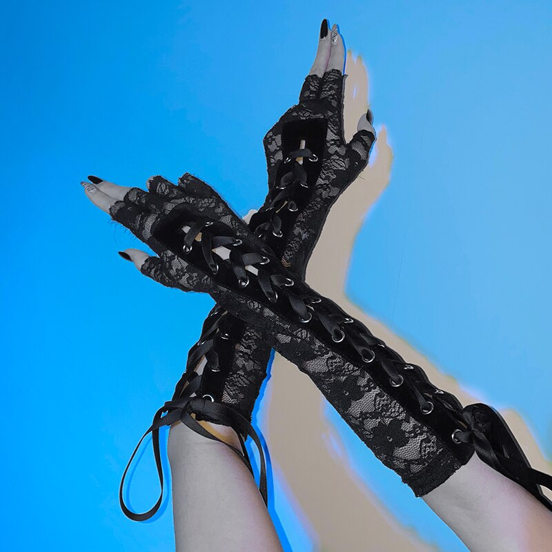 Darkness Within Lace Gloves