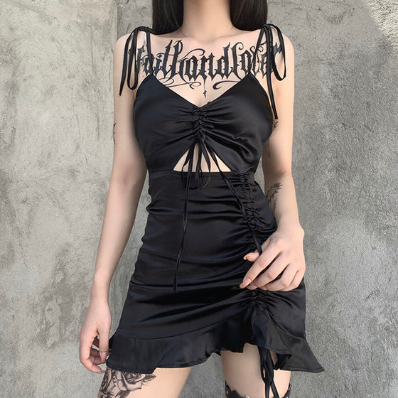 Love Me Right Dress - ALTERBABE Shop Grunge, E-girl, Gothic, Goth, Dark Academia, Soft Girl, Nu-Goth, Aesthetic, Alternative Fashion, Clothing, Accessories, Footwear