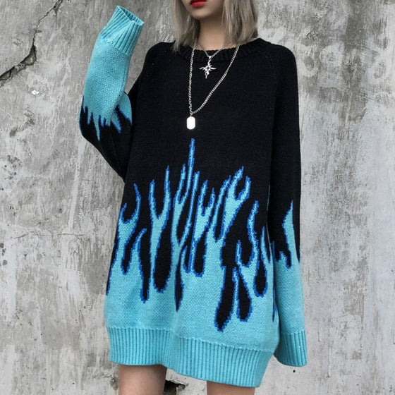 Down In Flames Oversized Sweater
