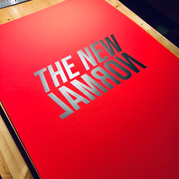 The new normal Poster (neon red)