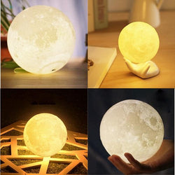 3D Moon Table Lamp USB
