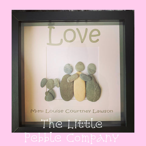 Personalised pebble picture