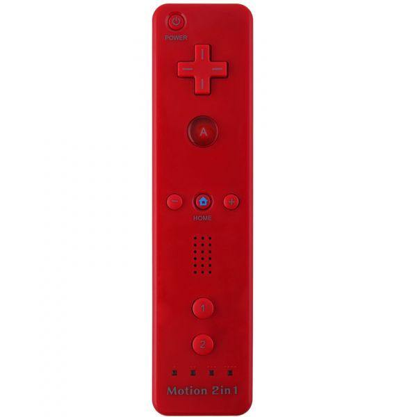 Remote Plus 2in1 Kontroller for Wii / Wii U (Rød) - Tredjeparts