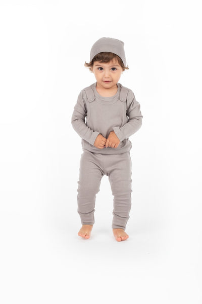 Footsie Tootsie Pants - Gray - Scarlett + Michel
