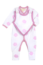 Load image into Gallery viewer, Smart Footed One-Piece + Bib - Pink Rose - Scarlett + Michel