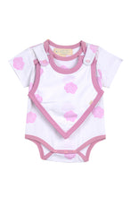 Load image into Gallery viewer, Smart Short Sleeve Bodysuit + Bib - Pink Rose - Scarlett + Michel