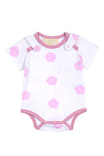 Load image into Gallery viewer, Smart Short Sleeve Bodysuit + Bib - Pink Rose