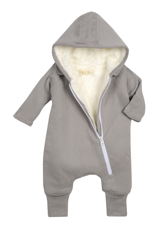 Smart Cuddly Jumpsuit + Bib - Gray - Scarlett + Michel