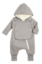 Load image into Gallery viewer, Smart Cuddly Jumpsuit + Bib - Gray