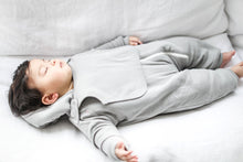 Load image into Gallery viewer, Smart Cuddly Jumpsuit + Bib - Gray - Scarlett + Michel