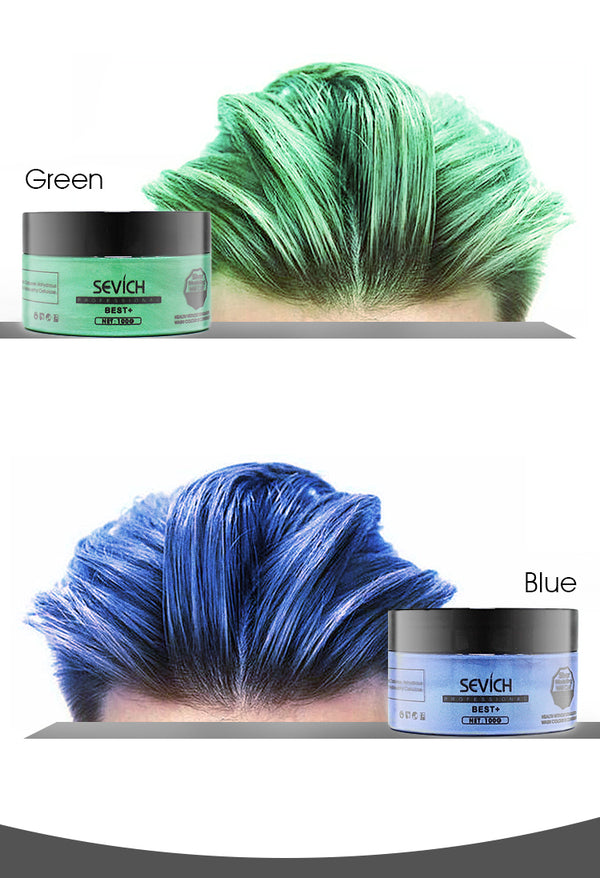 temporary hair color natural wax sevich bald notbald wax color