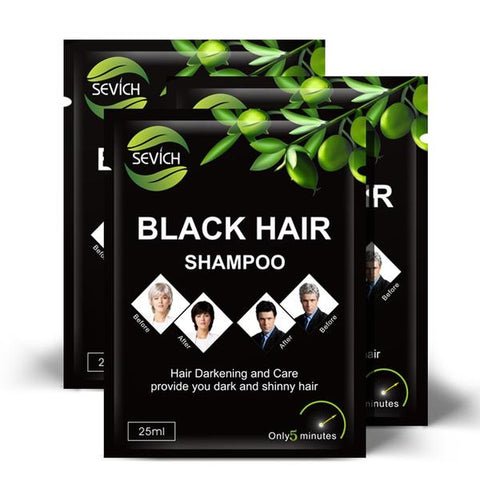 Instant black hair shampoo 10 pieces