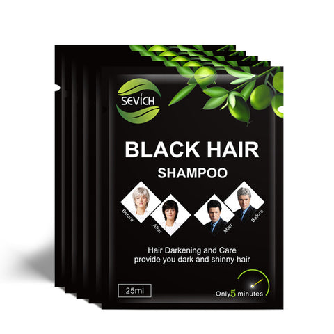 Instant black hair shampoo 5 pieces