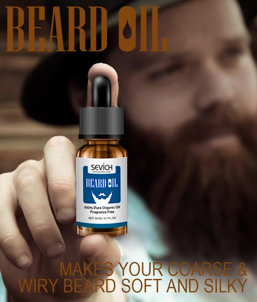 beard oil men care vitamin jojoba aloe vera chamomile argan sevich natural