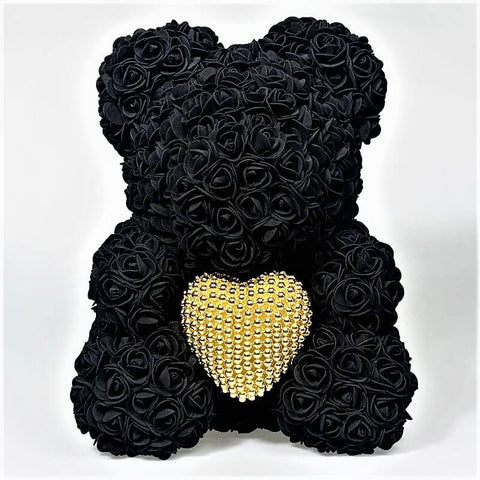 Limited Edition Rose Bear/Pearl Heart