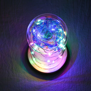 Exclusive LED Galaxy Rose In Glass - Madeofrose