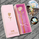 Galaxy Rose With Luxury Pink Box - Madeofrose