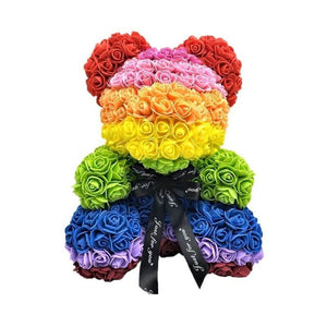 Exclusive Rainbow Rose Bear