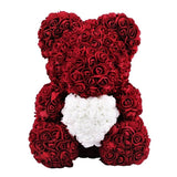 Burgundy Exclusive Rose Bear - Madeofrose