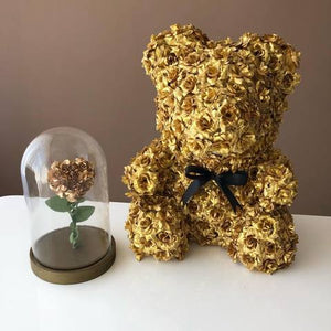 Luxury Rose Bear Gold - Madeofrose