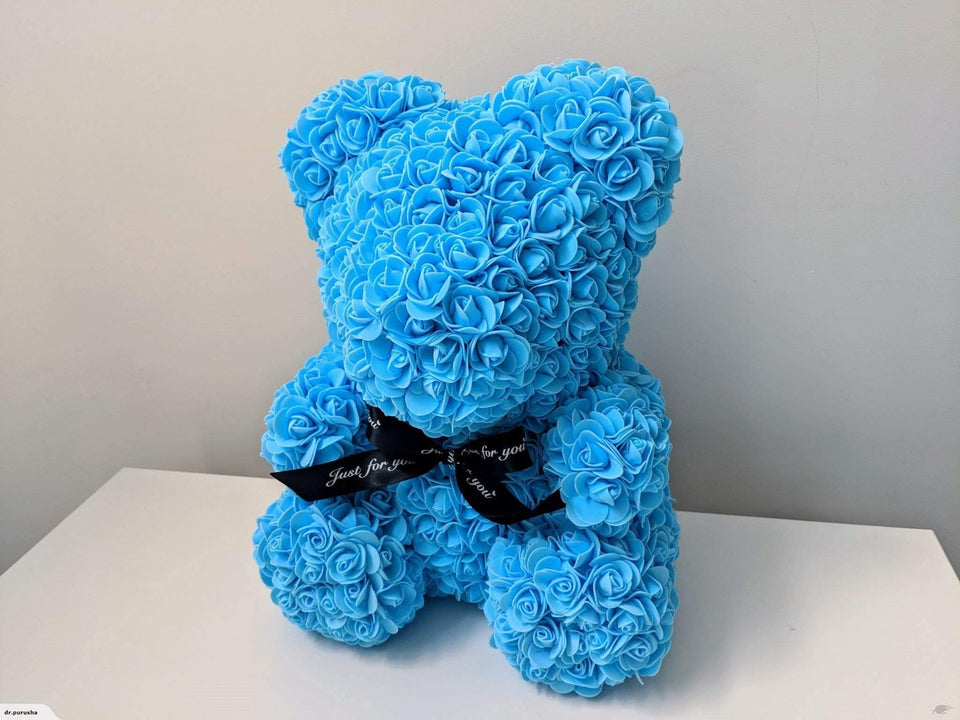 Luxury Rose Bear Blue - Madeofrose