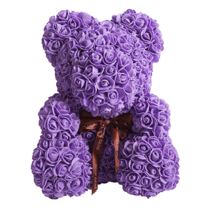Luxury Rose Bear Purple - Madeofrose