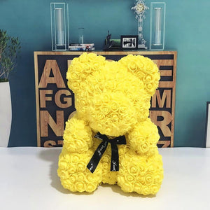 Luxury Rose Bear Yellow - Madeofrose