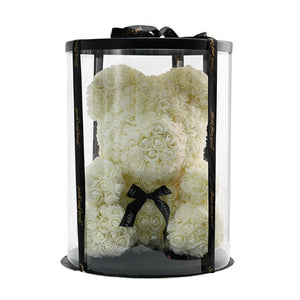 Luxury Rose Bear With Round Gift box - Madeofrose