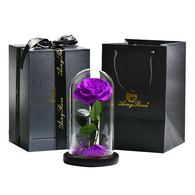 Preserved Rose In Glass Dome + Gift Box - Madeofrose