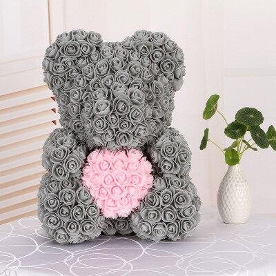 Luxury Rose Bear With Heart - Madeofrose