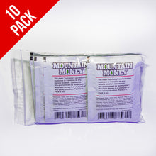 Load image into Gallery viewer, Mountain Money Outdoor Wipes.. 10 individual wipes in a reclosable bag