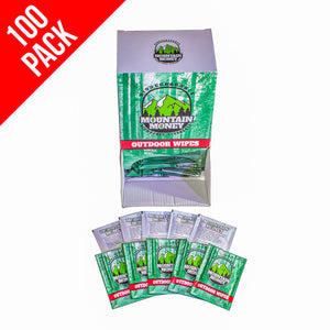 Mountain Money Outdoor Wipes 100 Pack (Display Box)