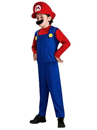 Super Mario Costume Kids Cosplay Costume Brothers Halloween Cosplay Costume - Garrison City Toy Work's