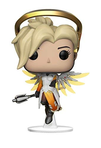 Funko Pop Games: Overwatch-Mercy, Multicolor - Garrison City Toy Work's