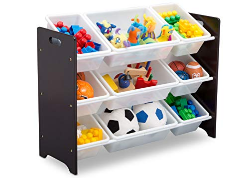 Delta Children MySize 9 Bin Plastic Toy Organizer, Dark Chocolate - Garrison City Toy Work's