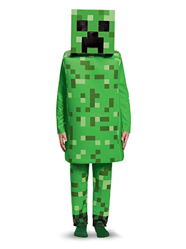 Creeper Deluxe Minecraft Costume, Green, Medium (7-8) - Garrison City Toy Work's