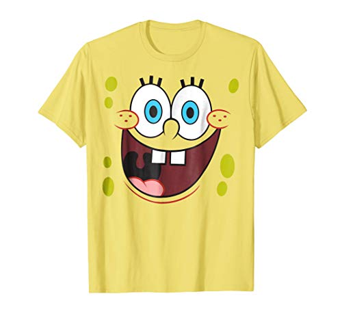 Spongebob Squarepants Bright Eyed Smiling Face T-Shirt - Garrison City Toy Work's