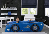 Delta Children Grand Prix Race Car Toddler & Twin Bed - Made in USA, Blue - Garrison City Toy Work's