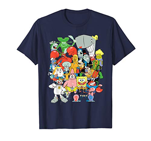 Spongebob Squarepants Cast Of Characters T-Shirt - Garrison City Toy Work's