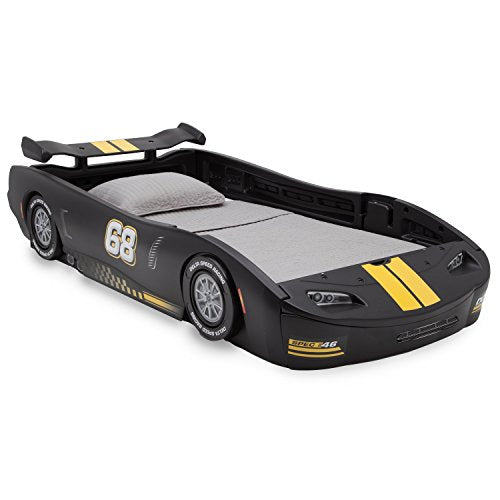 Delta Children Turbo Race Car Twin Bed, Black - Garrison City Toy Work's