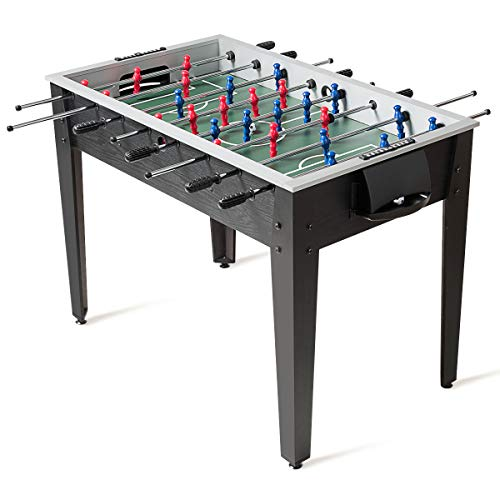 Giantex Foosball Table, Wooden Soccer Table Game w/Footballs, Suit for 4 Players, Competition Size Table Football for Kids, Adults, Football Table for Game Room, Arcades (48 inch, Black) - Garrison City Toy Work's