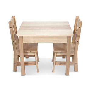 Melissa & Doug Solid Wood Table & Chairs - Garrison City Toy Work's