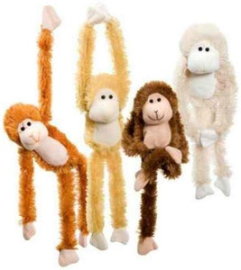 Hanging Furry Monkey Random Color - Garrison City Toy Work's