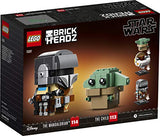 LEGO 75317 BrickHeadz Star Wars The Mandalorian & The Child Baby Yoda Collectable Model B