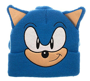 Bioworld Sonic The Hedgehog 3D Collectors Edition Costume Beanie Blue - Garrison City Toy Work's