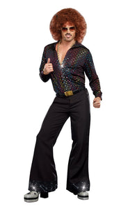 Dreamgirl Men's Disco Dude Costume, Multi-Colored, Large - Garrison City Toy Work's