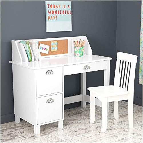 KidKraft Kids Study Desk with Chair-White - Garrison City Toy Work's